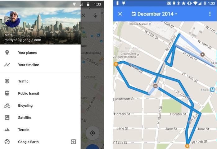 Google Maps Shows Your Location History With Your TImeline - Google map location history