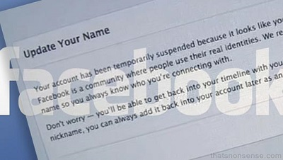 Facebook Real Name Policy