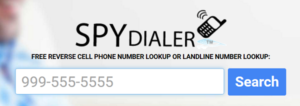 Spy Dialer Phone Number Search