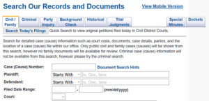 Harris County, Texas Court Records Search