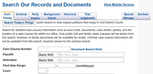 Harris County, Texas Court Records